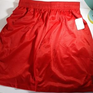 """Reebox 10"""" mesh red shorts new large"""